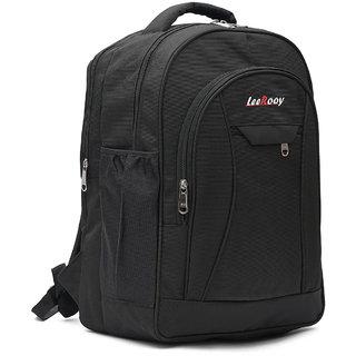 2120b7249203 LeeRooy Nylon 21 Ltr Black Travel Bag Backpack For Men