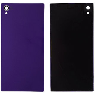 New Back Battery Panel (Made Of Glass) For Sony Xperia Z1- Purple Color