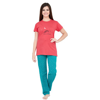 64a0eaa236b8 Lenissa Women s Night suits - Night Dress for women - Loungewear - Printed  - Half Sleev