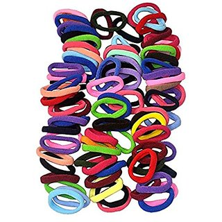 Minder New Rainbow Multicolor Super Elastic Hair Ties ( Fine Quality Rubber Bands - Set Of 90 Pcs. )