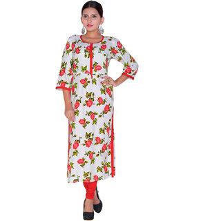 Aanetos Causal Wear Round Neck Long Kurti (3/4 Sleeves)