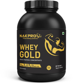 NAKPRO Gold Whey Protein Concentrate 80 (Raw, Pure, Asi