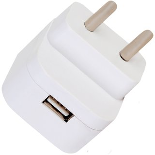 Voltsy 1.6 Amp Smart Wall Charger   Travel Charger   for all Android Mobiles and Smartphones   White
