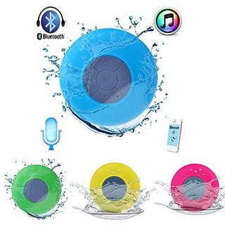 Water Proof Bluetooth Shower Speaker With Mic Wireless Portable Stereo Best for Bath, Pool, Car, Beach, Indoor/Outdoor