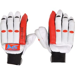 AS Cricket Batting Gloves in White - College, Standard size