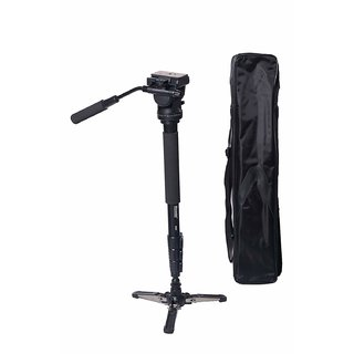 Simpex 882 Photo Video Monopod with Two-Way Fluid Pan and Tilt Head and Base
