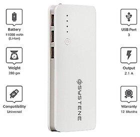Systene Powerbank 11000mAh for Moto G6, G6 Play, G5, G5s (White)