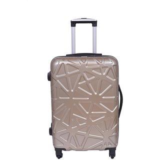 Times Bags Trolley Bag 118228 Stylish Hard Luggage - 28 Inch (Gold)