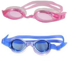 HIPKOO WHIRL ANTI FOG UV PROTECTION Swimming pink ,blue  (pack of 2)