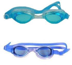 HIPKOO WHIRL ANTI FOG UV PROTECTION Swimming blue  ,light blue (pack of 2)