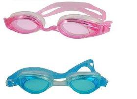HIPKOO WHIRL ANTI FOG UV PROTECTION Swimming pink  light blue (pack of 2)