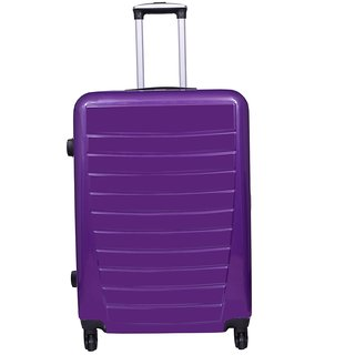 Times Bags Trolley Bag 136828 Stylish Hard Luggage - 28 Inch (Purple)