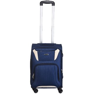 Times Bags Trolley Bag HH1301220 Polyester Expandable Stylish Luggage - 20 inch (Blue)