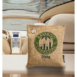 Clarastar Bamboo Charcoal Jute Bag for Air Freshener, Fridge Freshener Deodorizer and Moisture Absorber