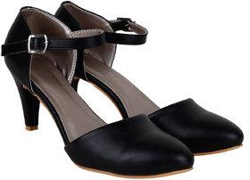Do Bhai Women's Black Stilettos Heels