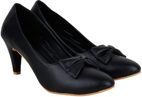 Do Bhai Women's Black Stilettos Heels - 142160432
