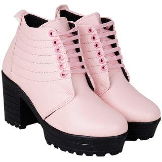 Do Bhai Women's Pink Boots