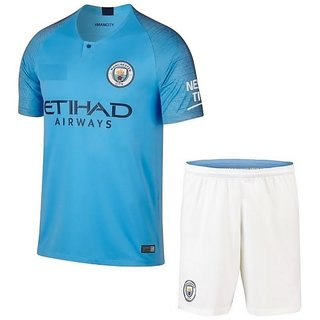 358a190d4d5 Buy MANCHASTER CITY HOME KIRT JERSEY WITH SHORTS 2018-19 SEASON Online -  Get 31% Off