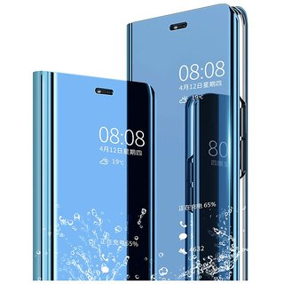 new style 4e56e 25f38 Clear Mirror View Flip Case Cover for Xiaomi Redmi 6 Pro - Blue