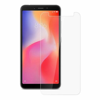 Redmi 6 Tempered Glass- 9H Hardness-Screen Protector, Full Edge to Edge, Anti Scratch  Dust Proof