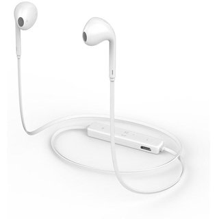 sports headset Neckband Wired Headphones With Mic S6  white