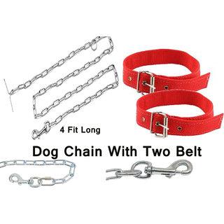 Dog Steel Chain With 2 Pics Neck Belt (Best Item)