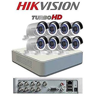 Hikvision 720p 1MP Turbo HD 8CH DVR + Hikvision 1MP Night Vision Bullet Camera 8pcs CCTV Combo