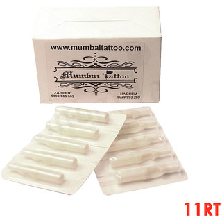 MUMBAI TATTOO SMALL DISPOSABLE TIPS 11FT WHITE BOX (PACK OF 50)