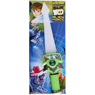 Ben 10 Lightning Toy for Kids-with Three Tiny Action Figures from Alien Force (Green).Size- 36/8 cm