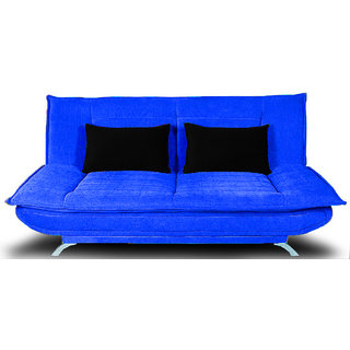 houzzcraft iris sofa cum bed in blue