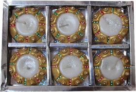 Avneesh Decorative Handmade candle  Set of - 6 Piece (Size - 7x5x2 cm)