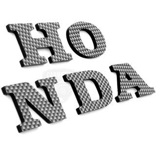 Carmetics HONDA 3d letters 3d stickers logo emblem styling accessories for Honda Brio  1set  Carbon Fiber Finish