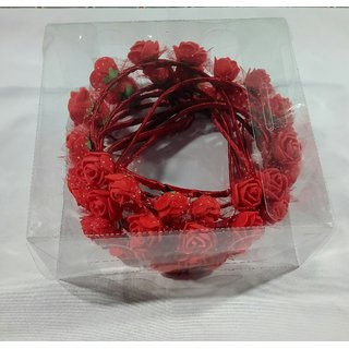 Deo Light Red Color Orchid Flower Hair Band Pack of 12 pieces  looks like Natural Flower  Latest Desing