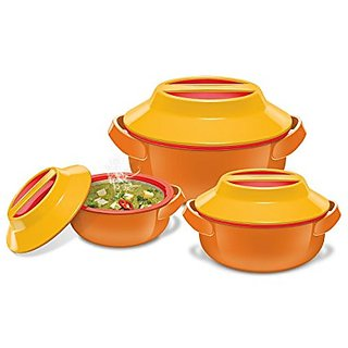 Milton Microwow Jr. Gift Set 500 / 1000/ 1500 Insulated Microwaveable Casserole