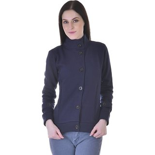 Christy's Collection Solid Women's Navy Coat