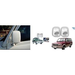 Toyota Qualis Chrome Side Mirror Cover (Set of 2 Pieces)