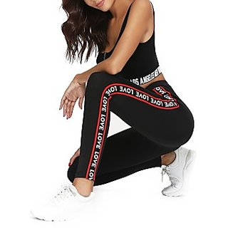 Buy Code Yellow Women s Stretchable Black Side LOVE Printed Jeggings Yoga  Gym Wear Online - Get 66% Off 8e32bc694b