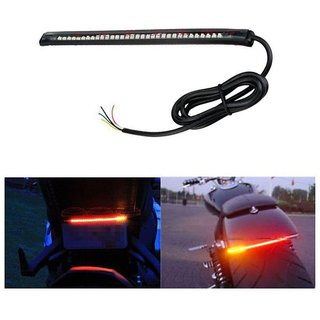 Bikers World Universal Flexible Led Strip Brake Light With Turn Signal Indicators 8