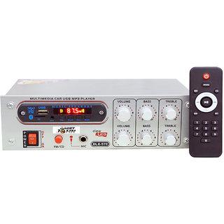 Barry John Amplifier With USB, AUX, MMC, FM, Bluetooth  Mic Socket 5000W PMPO 160 W AV Power Amplifier  (Silver)