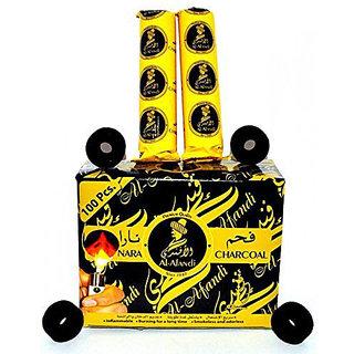 SCORIA Al-Fandi Pack of 10 Roll Hookah Charcoals (Pack of 10) for Econo MYA Hookah Pipe