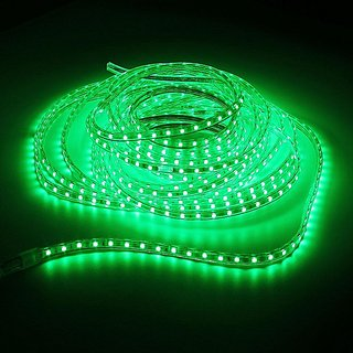 45M Waterproof SMD 5050 LED Strip 220V 60leds/m Flexible tape rope Light Green