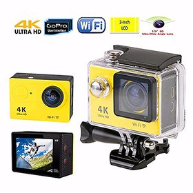 big Action Camera 4K WiFi 16 MP with High Speed Shooting  Definition Equipped, Durable Waterproof to 30M with Housing