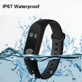 Bingo M2 Sporty Smart Waterproof Fitness Band With Bluetooth Feature (Black)