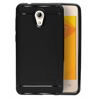 ECellStreet Protection Slim Flexible Soft Back Case Cover for Micromax Bharat 4 Q440 - Black
