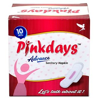 Pinkdays Advance Super Absorbent Soft and Comfortable(10 Pads) Sanitary Pad(280mm)