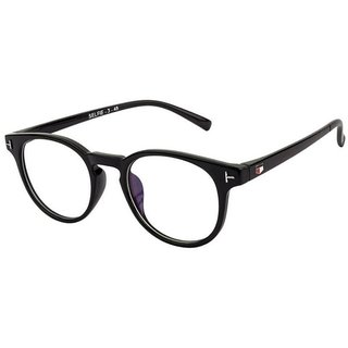 Ivonne Anti -glare Transparent Black Uv Protection Full Rim Round Eyeglass