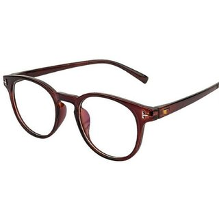 2654934f195 Buy Ivonne Anti-Glare Brown Full Rim Round Eyeglass Frame Online ...