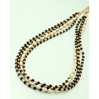 Voylla Multi-String Beaded Necklace For Women