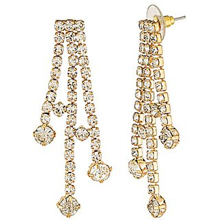 Voylla CZ Decked Gold Toned Necklace Sets For Women