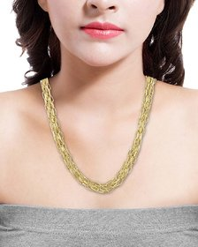 Voylla Multi Layered Chain Necklace In Gold Tone For Women